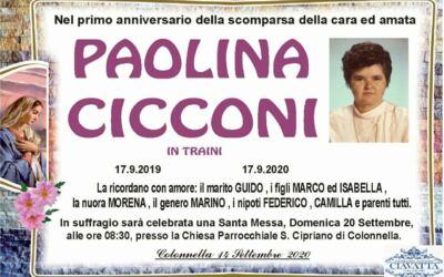 Anniversario Paolina Cicconi