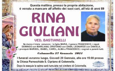 Lutto Giuliani Rina