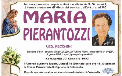 Lutto Pierantozzi Maria ved. Pecchini