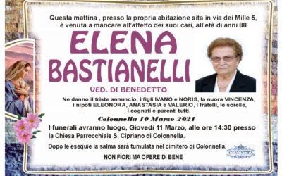 Lutto Elena Bastianelli ved. Di Benedetto