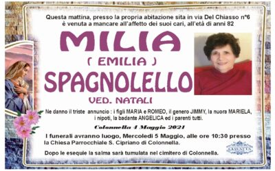 Lutto Spagnolello Milia