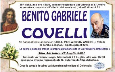 Lutto Covelli Benito Gabriele