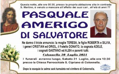 Lutto Di Salvatore Pasquale Amerigo
