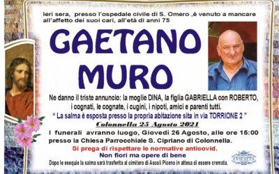 Lutto Muro Gaetano