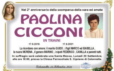 2° ANNIVERSARIO CICCONI PAOLINA