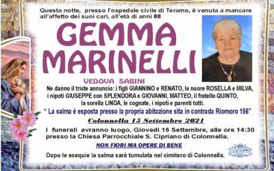 Lutto Marinelli Gemma ved. Sabini