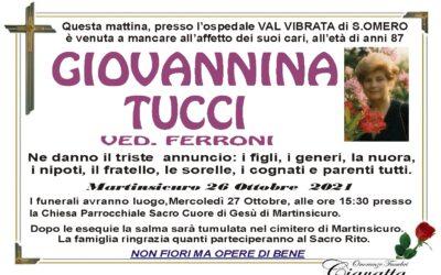 Lutto Tucci Giovannina